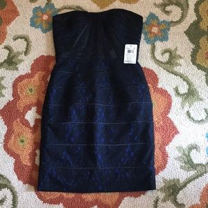 NWT Aqua strapless dress